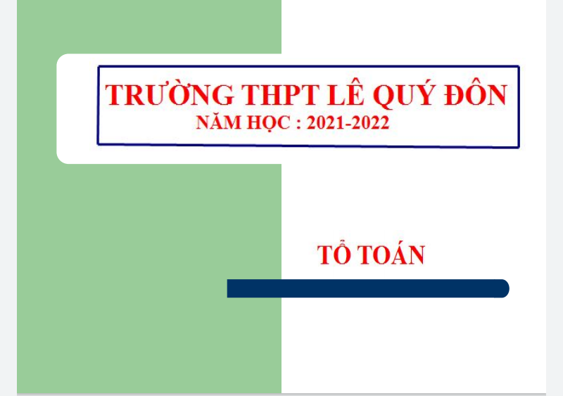 ĐỀ 2 KIỂM TRA ONLINE KHỐI 11(2021-2022)